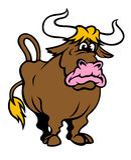ταύρος αστείος Στοκ Εικόνες