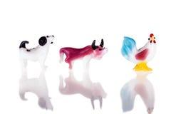 Ταύρος και κοτόπουλο σκυλιών Στοκ Εικόνες