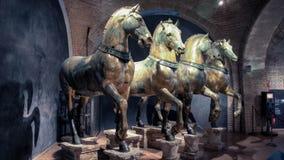 Τα άλογα της βασιλικής του ST Mark ` s στη Βενετία Στοκ Φωτογραφία