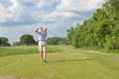 Ταλάντευση γκολφ Στοκ Φωτογραφία
