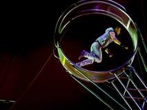 Ταλάντευση Artiste ένα τσίρκο Στοκ εικόνες με δικαίωμα ελεύθερης χρήσης