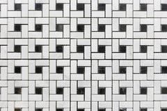Τα άσπρα και μαύρα μωσαϊκά πλέγματος Στοκ Εικόνες