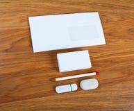 Τα άσπρα στοιχεία της εταιρικής ταυτότητας Στοκ Εικόνα