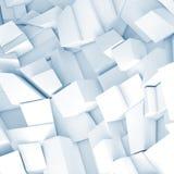 Τα άσπρα τρισδιάστατα χαοτικά τεμάχια, δίνουν απεικόνιση αποθεμάτων