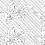 Τα άσπρα φύλλα δίνουν το συρμένο σχέδιο Στοκ Εικόνα