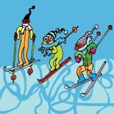 τα άτομα κάνουν σκι Στοκ εικόνα με δικαίωμα ελεύθερης χρήσης
