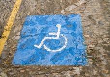 Τα άτομα με ειδικές ανάγκες υπογράφουν Arcos de στο Λα Frontera κοντά στο Καντίζ Ισπανία Στοκ Εικόνες