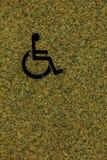 Τα άτομα με ειδικές ανάγκες υπογράφουν, λεπτομέρεια ενός σήματος πληροφοριών, άτομα με ειδικές ανάγκες Στοκ Εικόνα