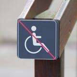 Τα άτομα με ειδικές ανάγκες υπογράφουν, παρεμποδισμένο εικονίδιο προσώπων Στοκ Εικόνα