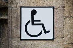 τα άτομα με ειδικές ανάγκες υπογράφουν Στοκ εικόνα με δικαίωμα ελεύθερης χρήσης