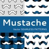 Τα άτομα Mustache συρράπτουν ess διανυσματικό σύνολο, Στοκ Φωτογραφίες