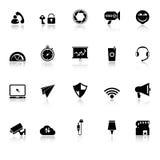 Τα έξυπνα εικονίδια τηλεφωνικής οθόνης με απεικονίζουν στο άσπρο υπόβαθρο Στοκ φωτογραφία με δικαίωμα ελεύθερης χρήσης