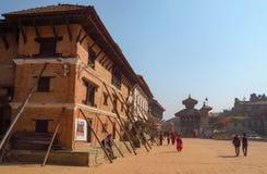 Τα έτη Bhaktapur μετά από τη ζημία γήινου σεισμού είναι ακόμα ορατά, Νεπάλ στοκ φωτογραφίες με δικαίωμα ελεύθερης χρήσης