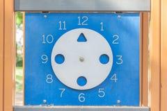 τα δίκρανα σχεδίου ρολογιών καφέδων φυλλάδιων διαμορφώνουν τα κουτάλια εικονιδίων χεριών Στοκ Φωτογραφίες