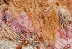 Τα δίχτυα του ψαρά, κλείνουν επάνω το σύνολο των χρωμάτων Στοκ φωτογραφία με δικαίωμα ελεύθερης χρήσης