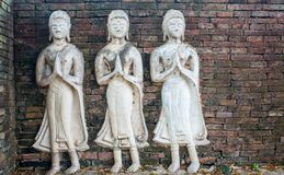 Τα αγάλματα αγγέλου της Ταϊλάνδης Στοκ Εικόνες