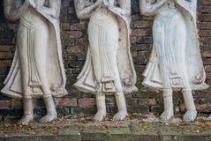 Τα αγάλματα αγγέλου της Ταϊλάνδης Στοκ Εικόνα