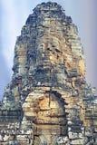 Τα αγάλματα ναών Bayon, Angkor, Siem συγκεντρώνουν, Καμπότζη Στοκ Εικόνες