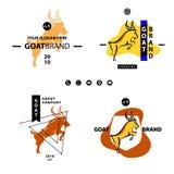 Τα αγγλικά μεταφράζουν hieroglyph την αίγα Επιχείρηση Logotype καθορισμένο Templat απεικόνιση αποθεμάτων