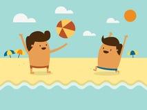 Τα αγόρια στην παραλία Στοκ Εικόνες
