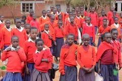 Τα αγόρια του Γυμνασίου Pomerini στην Τανζανία-Αφρική Στοκ φωτογραφία με δικαίωμα ελεύθερης χρήσης