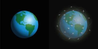 Τα αεροπλάνα ατμοσφαιρικής ρύπανσης καθαρίζουν το βρώμικο πλανήτη απεικόνιση αποθεμάτων