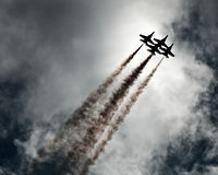 τα αεροπλάνα εμφανίζουν Στοκ Εικόνες