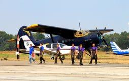 Τα αθλητικά αεροσκάφη στον αερολιμένα στοκ εικόνα