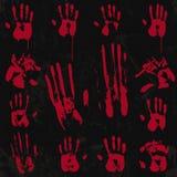 Τα αιματηρά στοιχεία τυπωμένων υλών χεριών θέτουν 02 Στοκ φωτογραφία με δικαίωμα ελεύθερης χρήσης