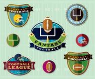 Τα αμερικανικά εμβλήματα ποδοσφαίρου φαντασίας καθορισμένα την απεικόνιση απεικόνιση αποθεμάτων