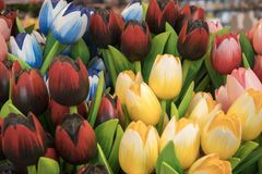 Τα αναμνηστικά σε Bloemenmarkt - να επιπλεύσει αγορά λουλουδιών στο κανάλι Singel φυλακτών netherlands στοκ εικόνα με δικαίωμα ελεύθερης χρήσης