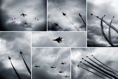Τα αναδρομικά αεροσκάφη παρουσιάζουν Στοκ Εικόνες