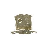 τα αναδρομικά κινούμενα σχέδια κτύπησαν το παλαιό καπέλο διανυσματική απεικόνιση