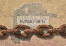 Τα ανθρώπινα δικαιώματα κειμένων Στοκ Εικόνες