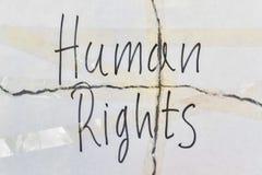 Τα ανθρώπινα δικαιώματα κειμένων Στοκ φωτογραφία με δικαίωμα ελεύθερης χρήσης