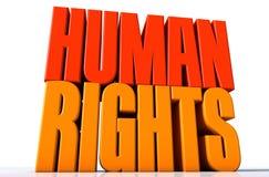 Τα ανθρώπινα δικαιώματα Στοκ εικόνες με δικαίωμα ελεύθερης χρήσης