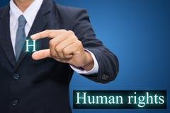 Τα ανθρώπινα δικαιώματα Στοκ Φωτογραφία