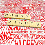 τα ανθρώπινα δικαιώματα Στοκ φωτογραφία με δικαίωμα ελεύθερης χρήσης