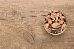 Τα ανοικτά τρόφιμα μπορούν Στοκ Εικόνες