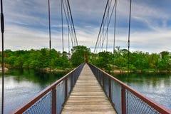 Ταλαντεμένος γέφυρα Androscoggin - Μαίην Στοκ Εικόνες