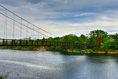 Ταλαντεμένος γέφυρα Androscoggin - Μαίην Στοκ εικόνες με δικαίωμα ελεύθερης χρήσης