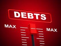 Τα ανώτατα χρέη αντιπροσωπεύουν το ανώτερα όριο και τα καθυστερούμενα ελεύθερη απεικόνιση δικαιώματος