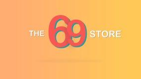 Τα 69 αποθηκεύουν την ειδική προωθητική γραφική απεικόνιση σκηνικού πώλησης διανυσματική απεικόνιση