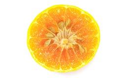 τα απομονωμένα καρποί πορτοκαλιά πορτοκάλια καρπού ανασκόπησης τεμάχισαν το λευκό Στοκ Εικόνα