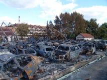 Τα αποτελέσματα της πυρκαγιάς Στοκ Εικόνα