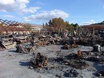 Τα αποτελέσματα της πυρκαγιάς Στοκ φωτογραφίες με δικαίωμα ελεύθερης χρήσης