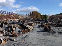 Τα αποτελέσματα της πυρκαγιάς Στοκ Εικόνες
