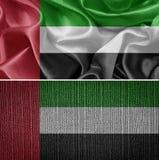 τα αραβικά εμιράτα σημαιοστολίζουν ενωμένο Στοκ Εικόνες