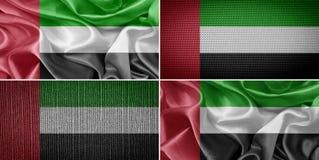 τα αραβικά εμιράτα σημαιοστολίζουν ενωμένο Στοκ Φωτογραφίες