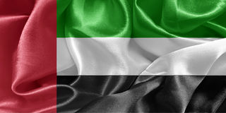 τα αραβικά εμιράτα σημαιοστολίζουν ενωμένο Στοκ Φωτογραφία